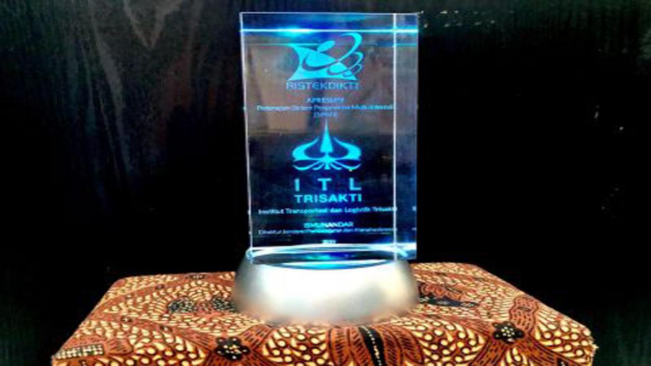 Piagam Penghargaan PPMI Institut Transportasi dan Logistik Trisakti